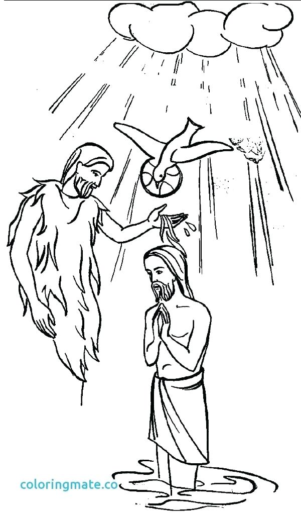 600x1021 Holy Spirit Coloring Pages Baptism With Holy Spirit In John
