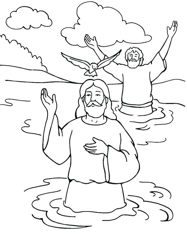 600x779 Holy Spirit Coloring Pages Baptism With Holy Spirit Superb Baptism