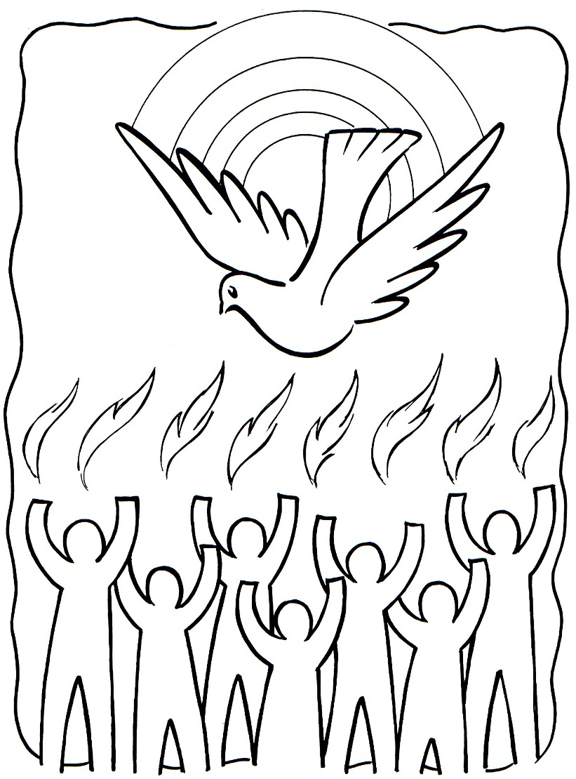 821x1110 Holy Spirit Coloring Pages Download