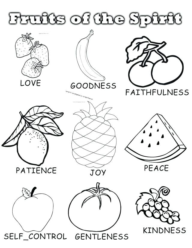 640x828 Holy Spirit Coloring Pages Fruit Coloring Sensational Fruits