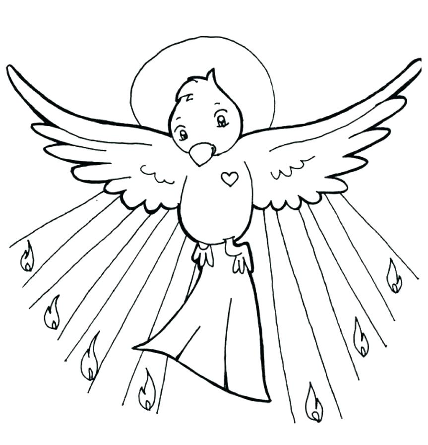 863x897 Holy Spirit Coloring Pages Spirit Coloring Pages Good Spirit