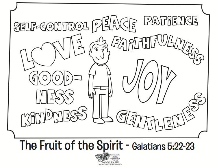751x577 The Fruit Of The Spirit Coloring Page