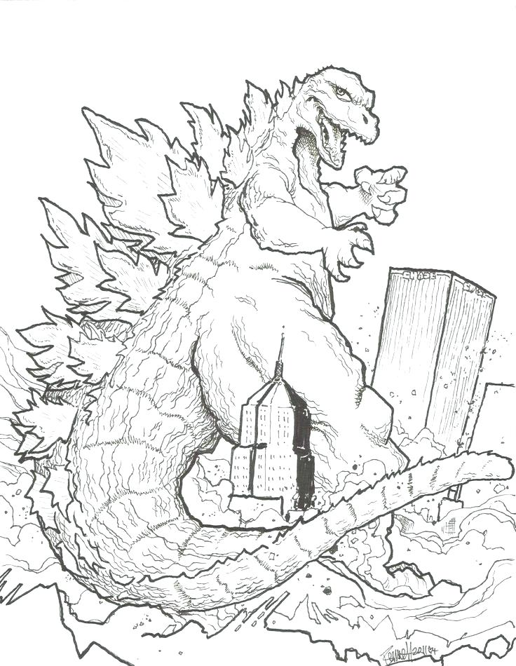 736x950 Godzilla Coloring Pages Complete Coloring Pages Kids Coloring