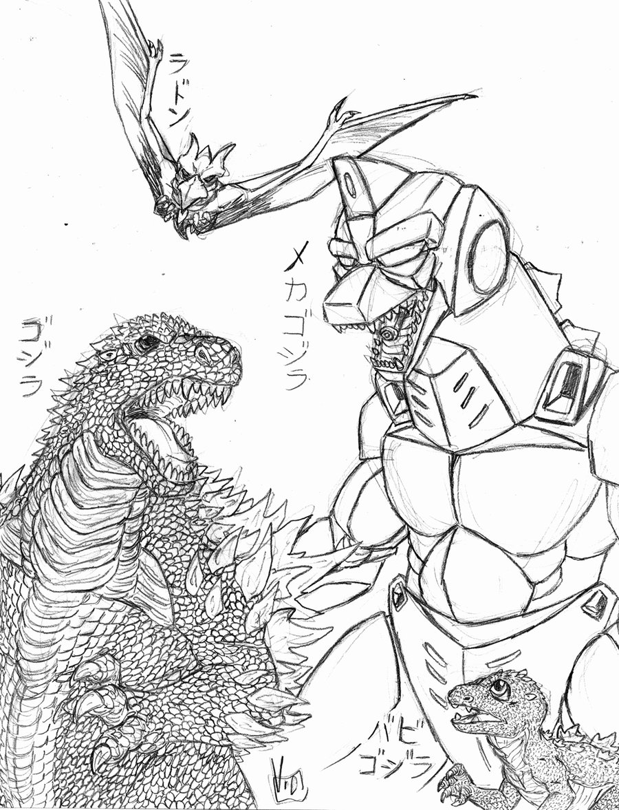 The best free Godzilla coloring page images. Download from ...