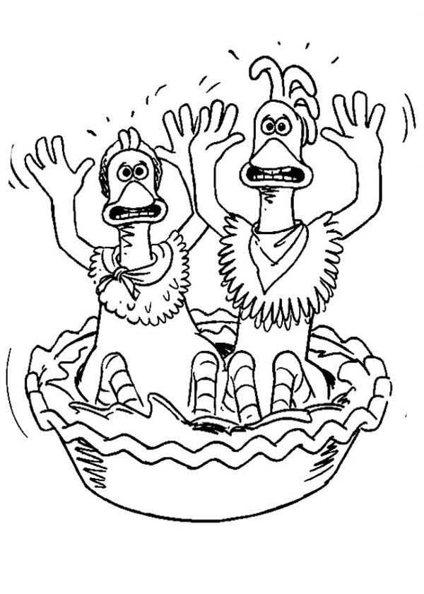 600x840 Ginger And Rocky Surrender In Chicken Run Coloring Pages Batch