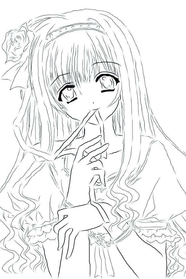 640x960 Boy And Girl Coloring Page Coloring Page Of A Girl Girl Coloring