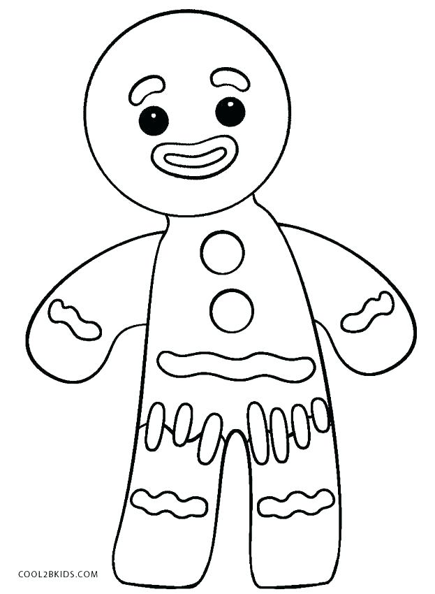623x850 Gingerbread Boy Coloring Page Or Craft Template Click To See