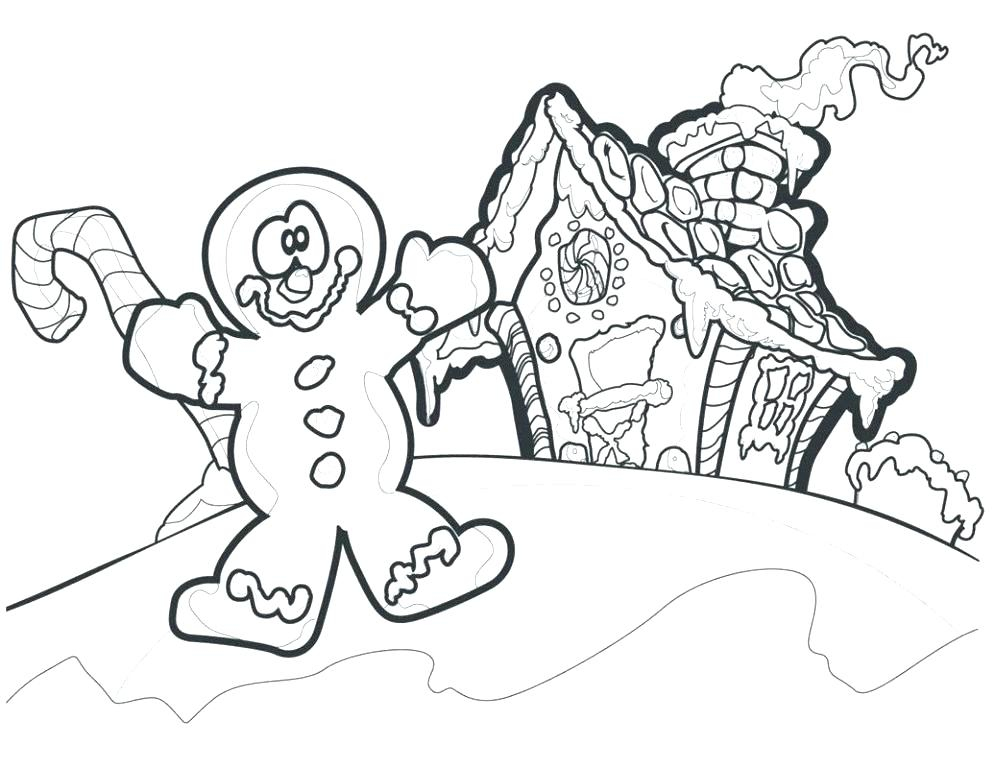 995x768 Gingerbread Girl Coloring Page