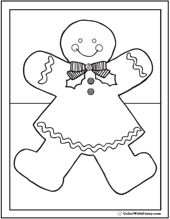 590x762 Gingerbread Girl Coloring Page