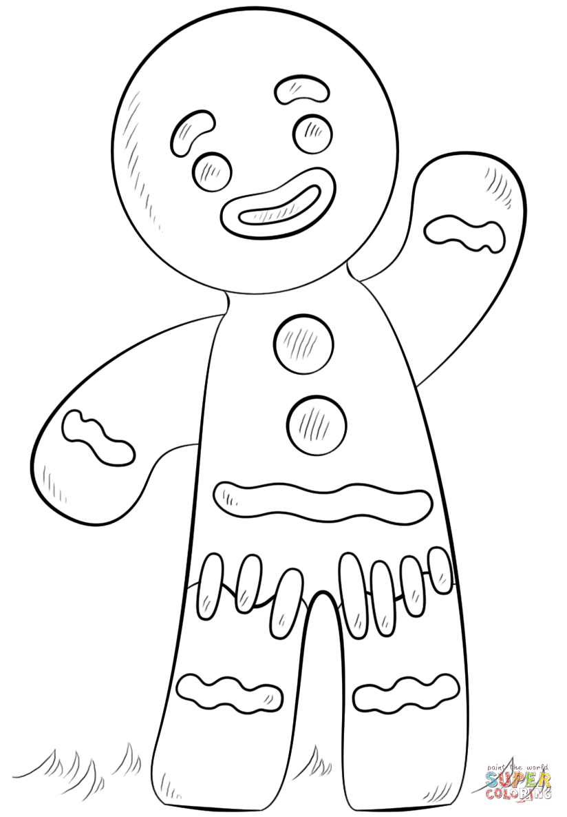 824x1186 Gingerbread Boy And Girl Coloring Pages Free