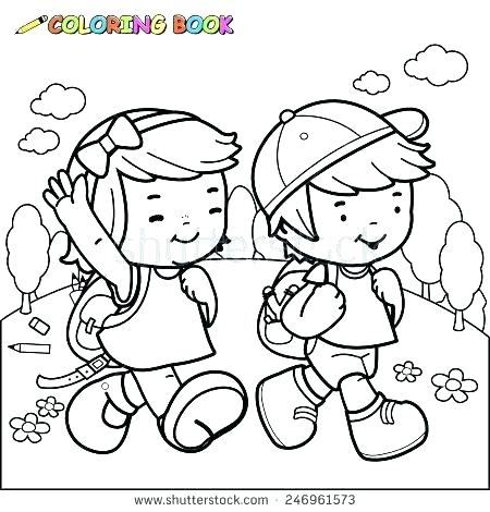 450x470 Boy And Girl Coloring Pages Illustrati Gingerbread Boy And Girl