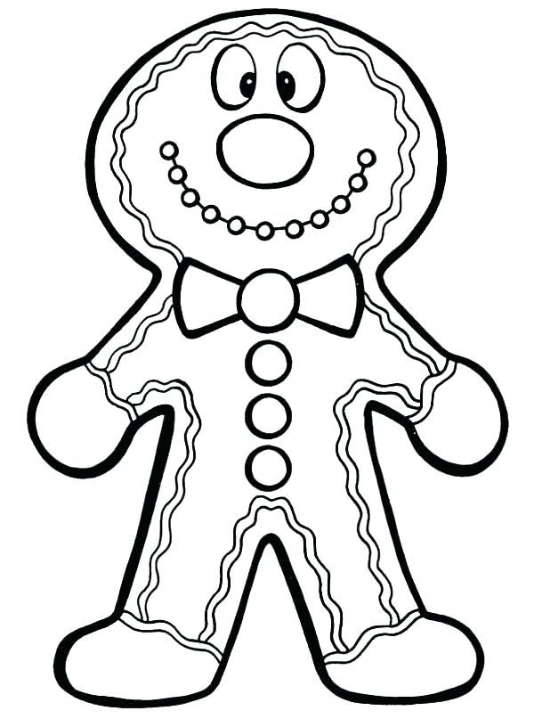 600x807 Coloring Pages Gingerbread Man Gingerbread Man Color Page