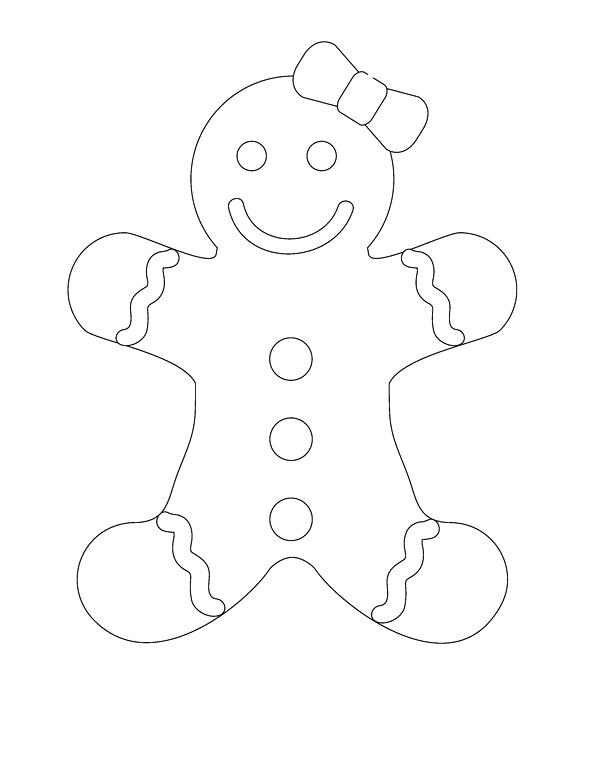 600x779 Gingerbread Man Coloring Page Gingerbread Boy Coloring Sheet