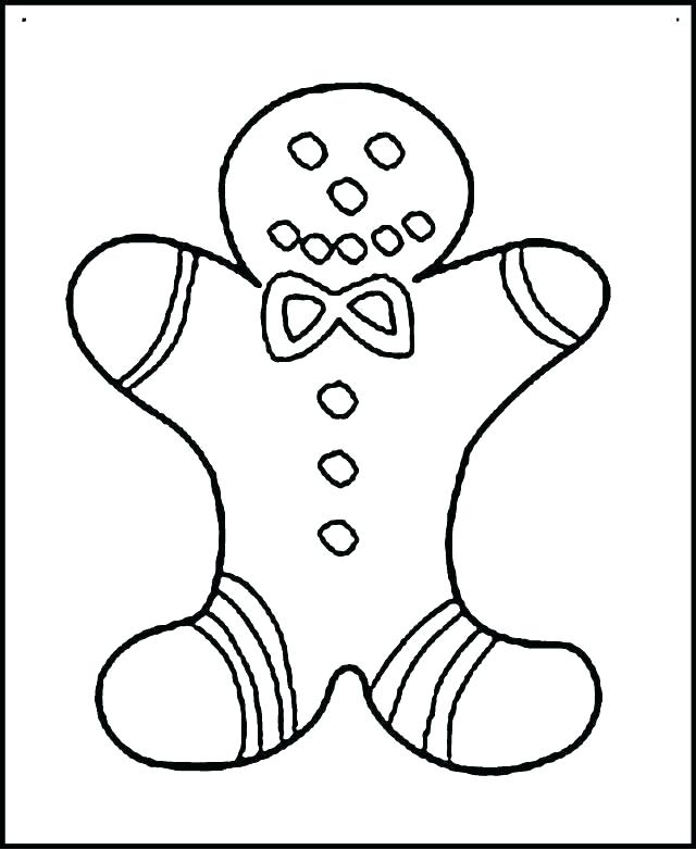 640x782 Gingerbread Man Coloring Pages Printable Gingerbread House