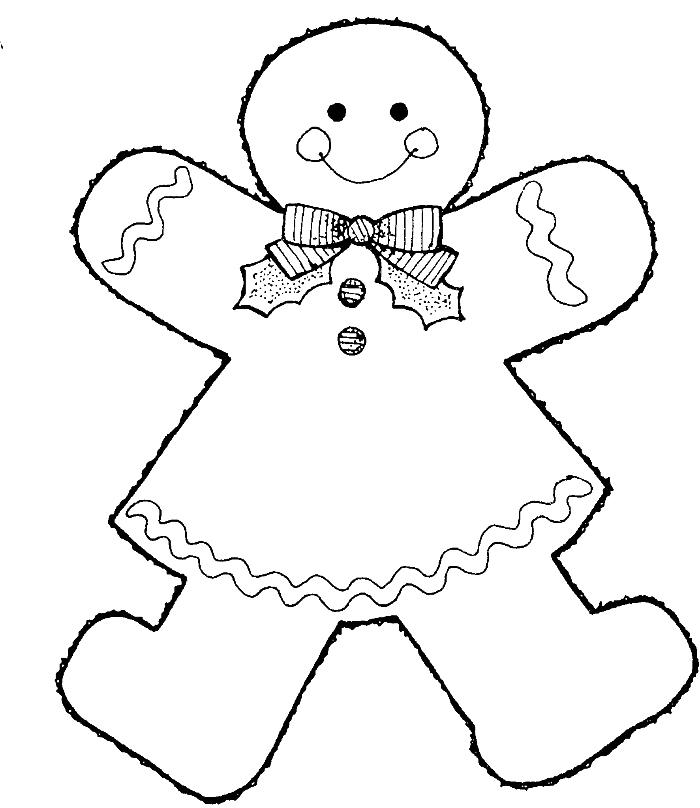 700x808 Style Gingerbread Boy Coloring Pages Natal