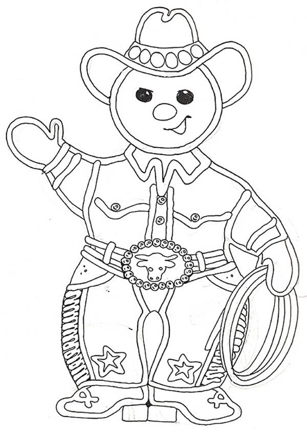 600x851 The Gingerbread Cowboy Coloring Page School