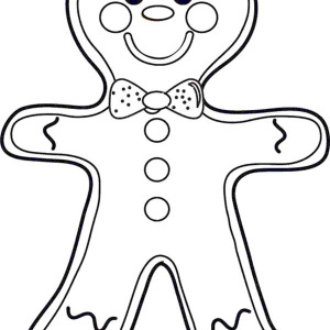 300x300 Free Coloring Pages Christmas Gingerbread Man Templates