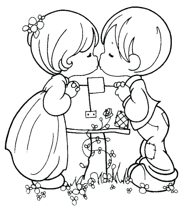600x670 Boy And Girl Coloring Pages Plus Pretty Girl Coloring Pages Girl