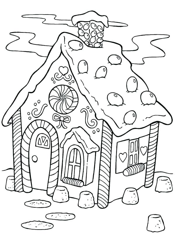 600x840 Gingerbread Coloring Pages Coloring Pages Of Gingerbread Houses