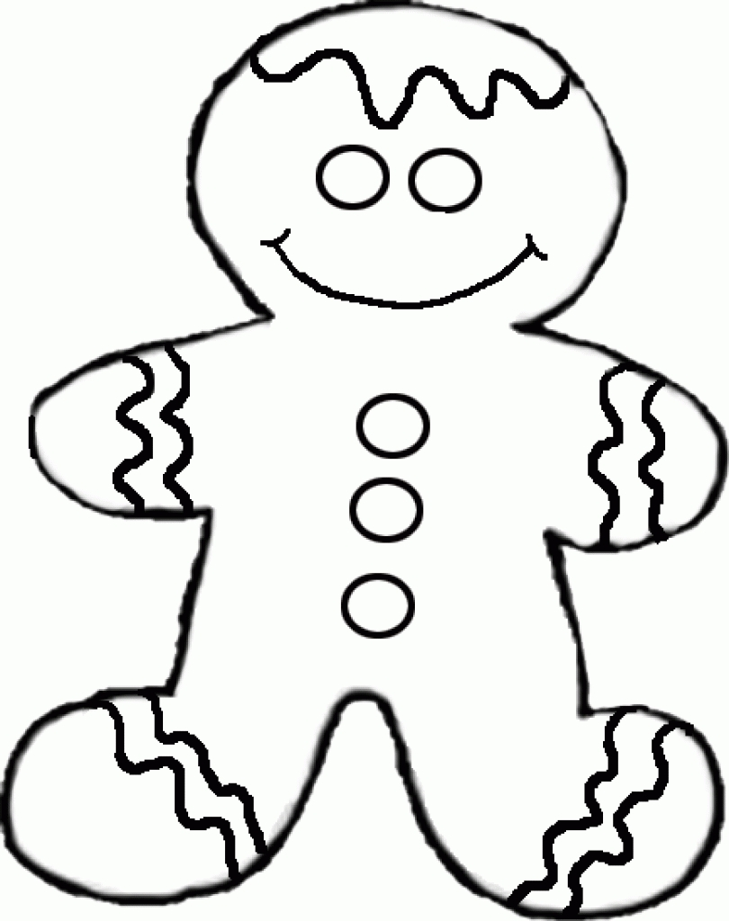 810x1024 Gingerbread Man Coloring Page