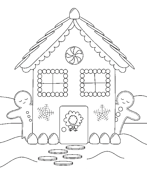 494x618 Home Of Gingerbread Coloring Pages
