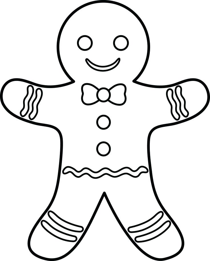 736x916 Pan De Jengibre Para Colorear Gingerbread Man Outline Coloring