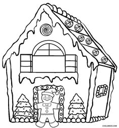 235x252 Printable Gingerbread House Coloring Pages For Kids
