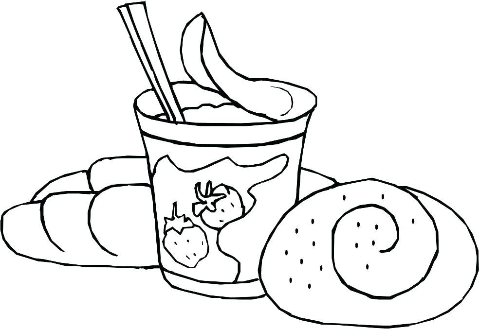 984x677 Yogurt Coloring Page Gingerbread Coloring Pages As Bread Coloring