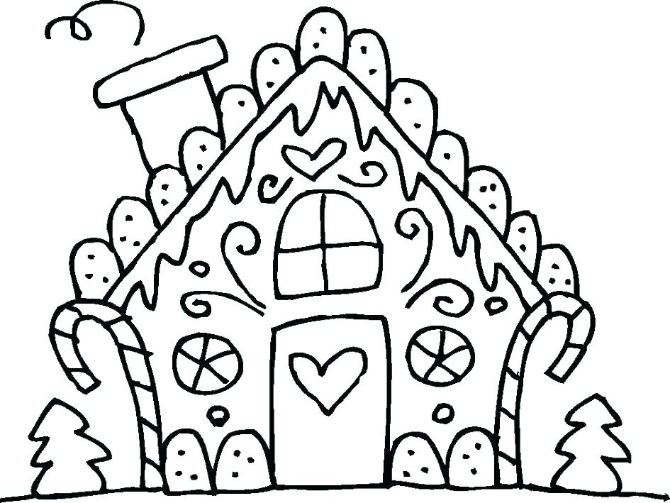 945x709 Gingerbread Girl Coloring Page