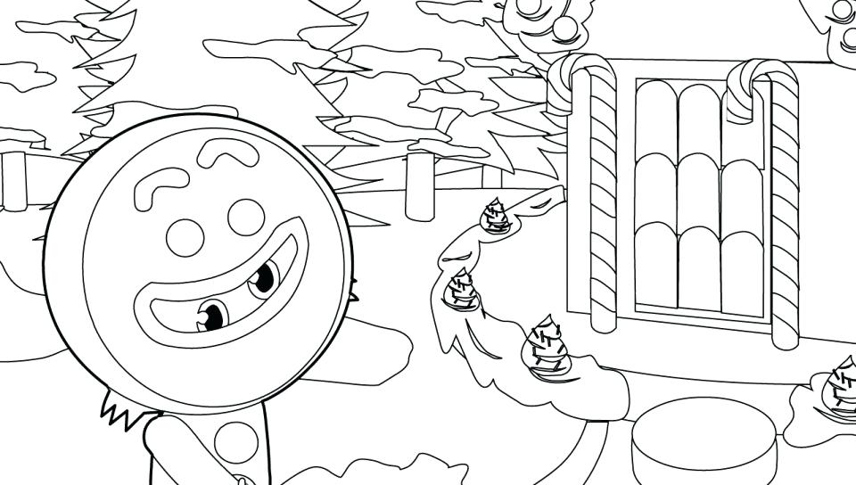 960x544 Gingerbread House Coloring Pages To Print
