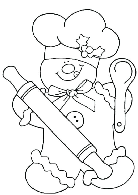 550x780 Coloring Pages Gingerbread Man Gingerbread Man Color Page