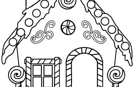 469x304 Coloring Pages Of Gingerbread Houses Coloring Pages Gingerbread