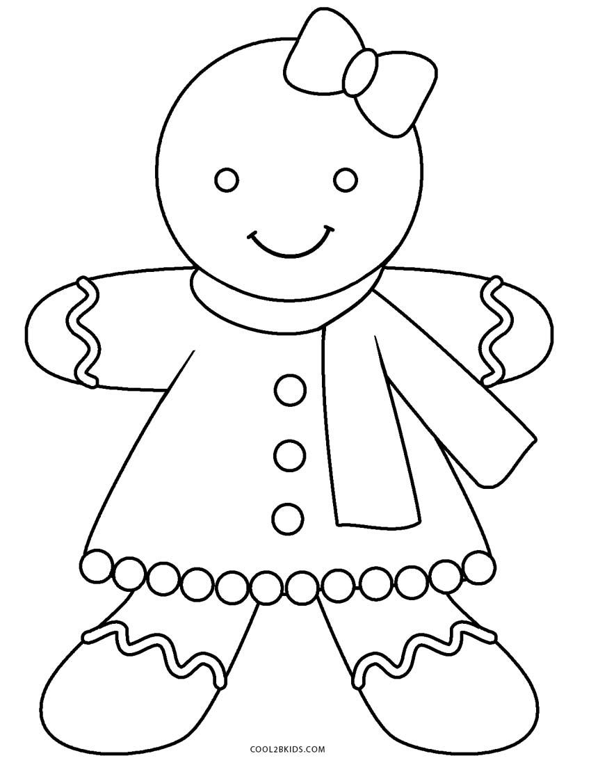 850x1100 Gingerbread Man Coloring Page