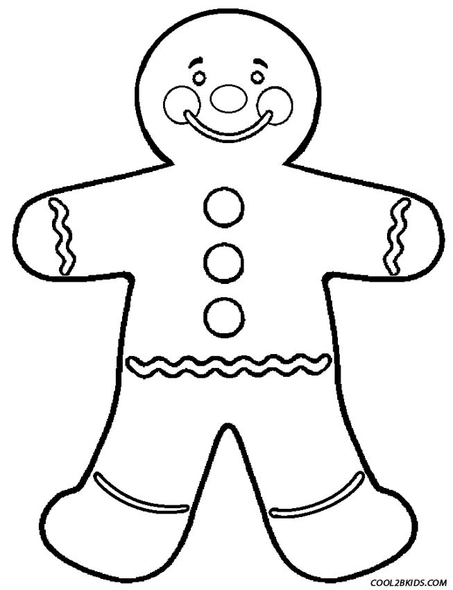 653x850 Gingerbread Man Coloring Pages Printable