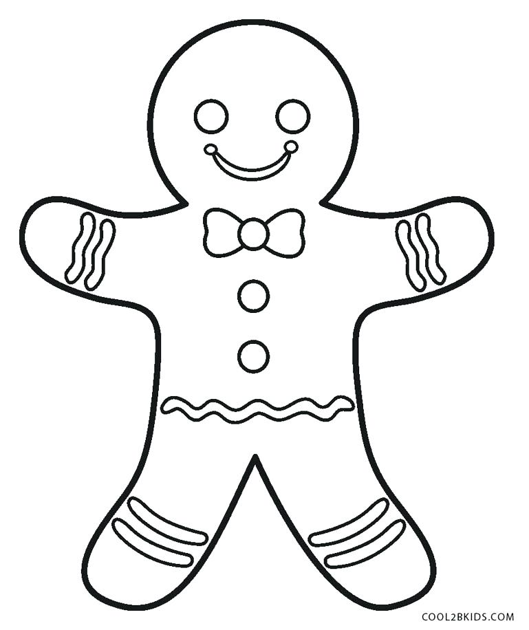 769x916 Gingerbread Coloring Pages Free Printable Gingerbread Man Coloring