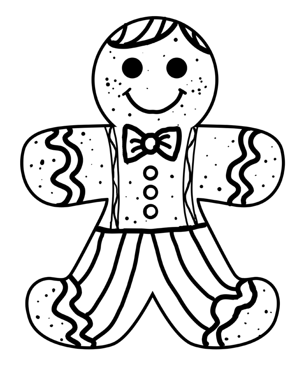 612x792 Printable Gingerbread Man Coloring Pages Me