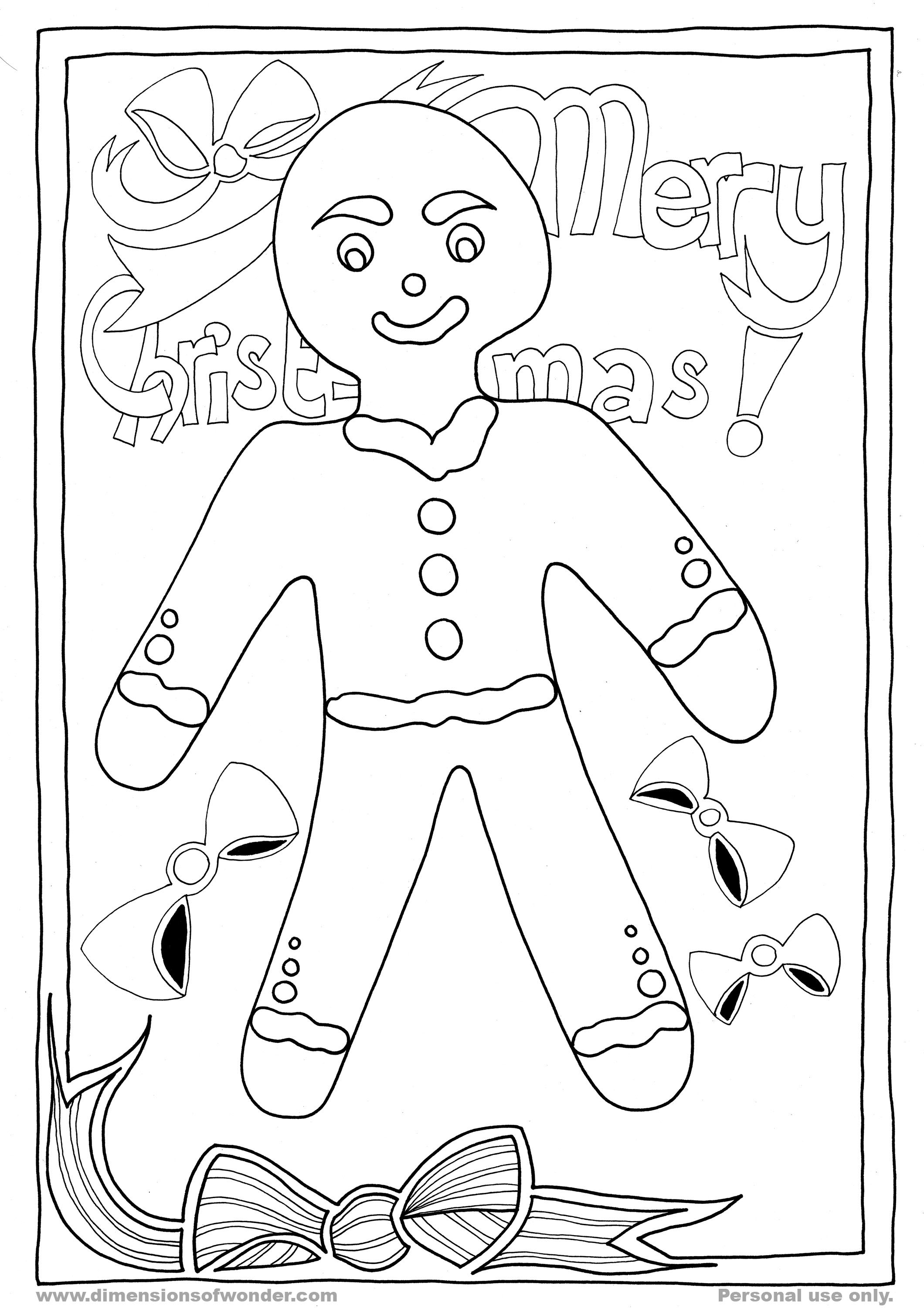 2120x3000 Christmas Printables Gingerbread Man Coloring Pages