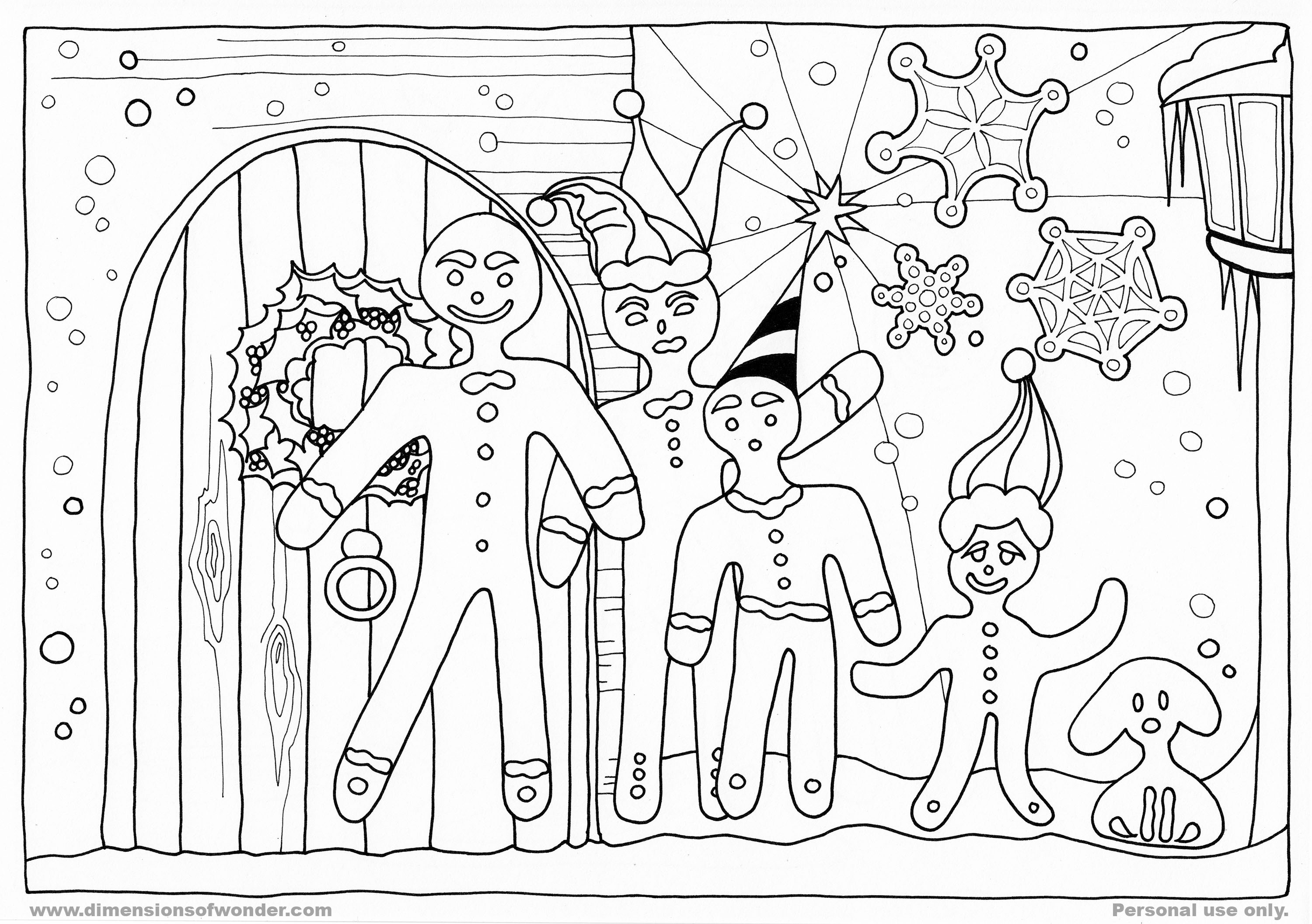 Gingerbread Family Coloring Pages