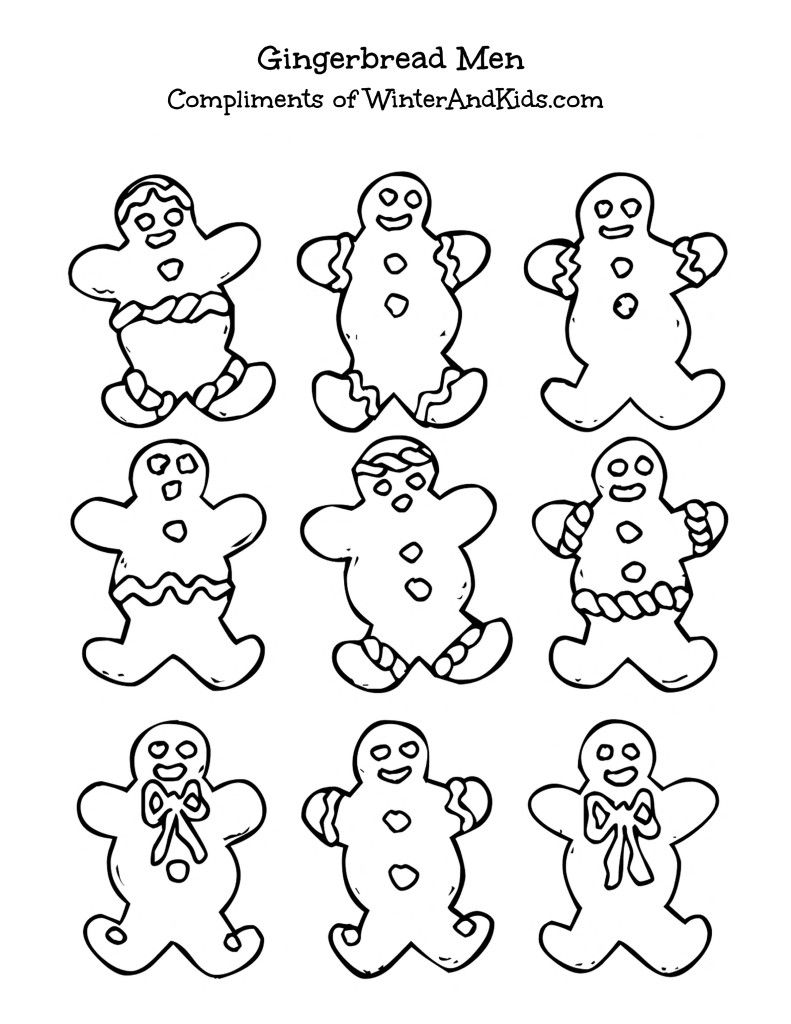 791x1024 Free Printable} Gingerbread Men All In The Family
