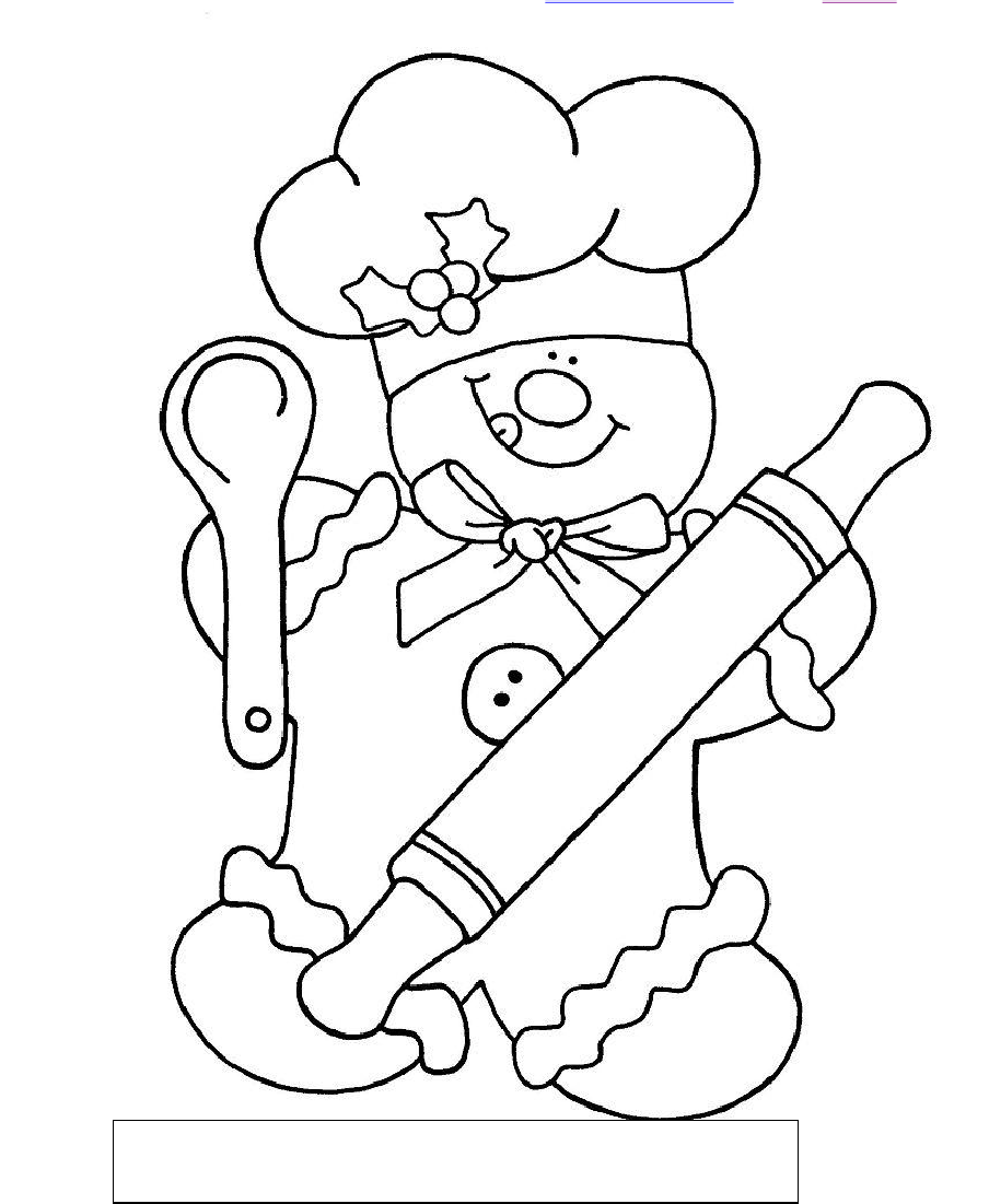 904x1101 Gingerbread Chef Color