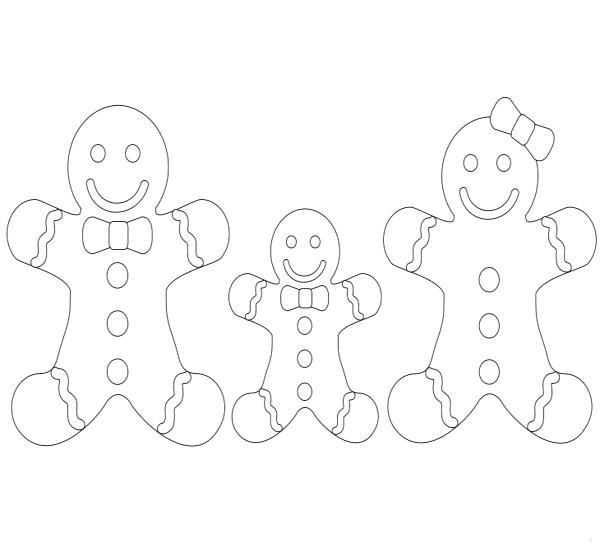 600x552 Gingerbread Coloring Pages Gingerbread Family Coloring Pages