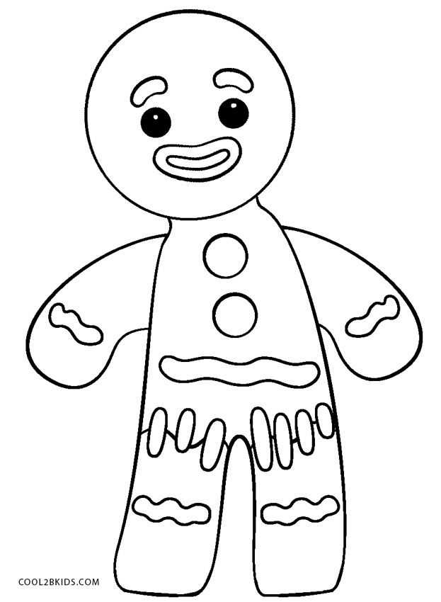 623x850 Shrek Gingerbread Man Coloring Page Family