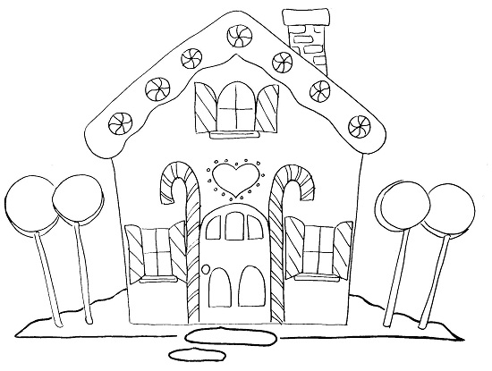 550x415 Blank Gingerbread House Coloring Pages Best Class Work Images