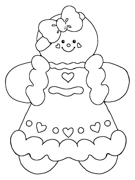 450x600 Gingerbread Girl Coloring Pages Gingerbread, Girls
