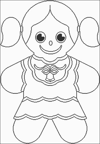 350x502 Gingerbread Girl Coloring Page Girl Coloring Page Download