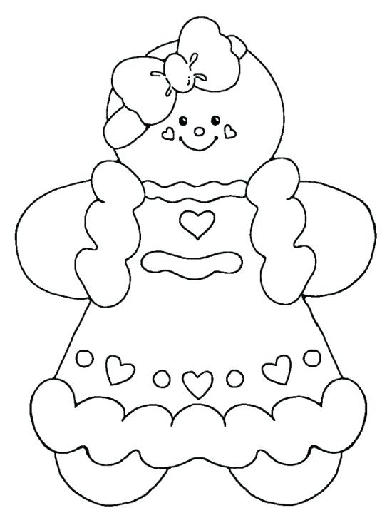 550x733 Gingerbread Girl Coloring Page Astounding Gingerbread Coloring