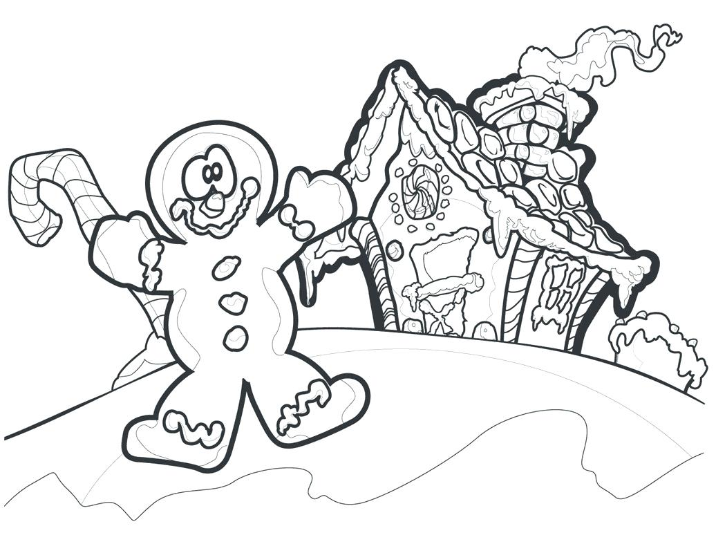 Gingerbread House Candy Coloring Pages