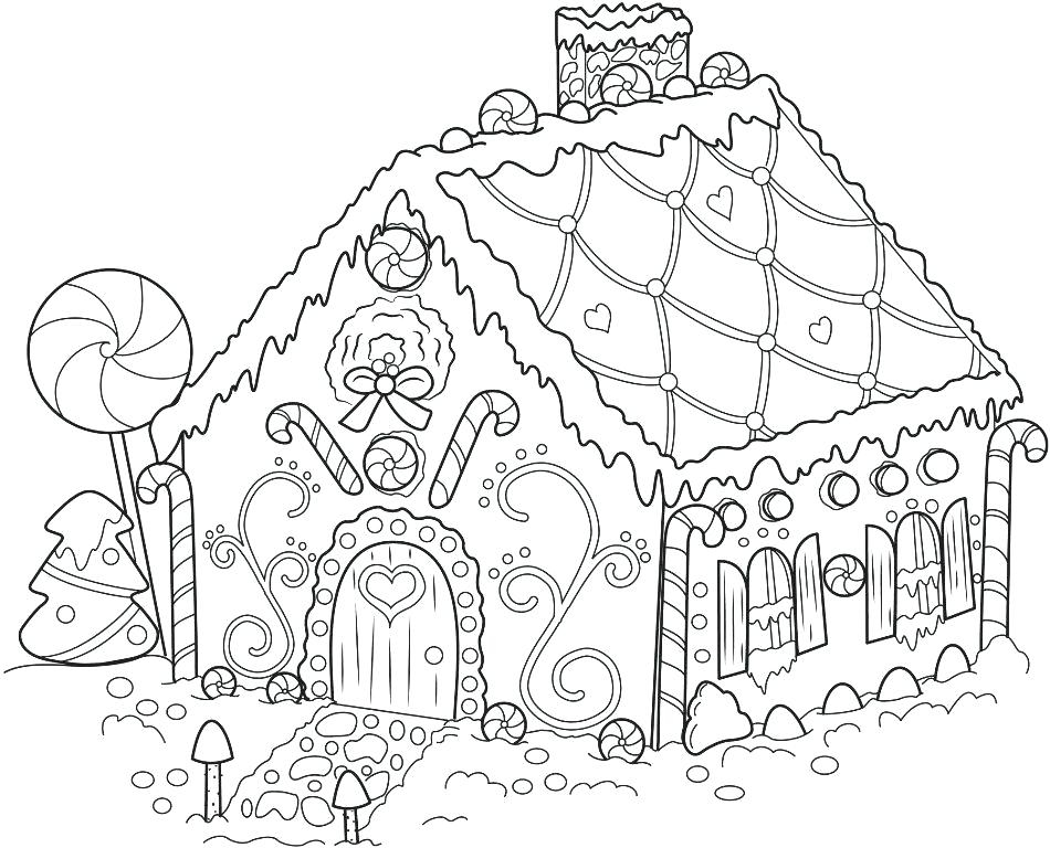 950x768 Candy House Coloring Pages Gingerbread House Coloring Pages