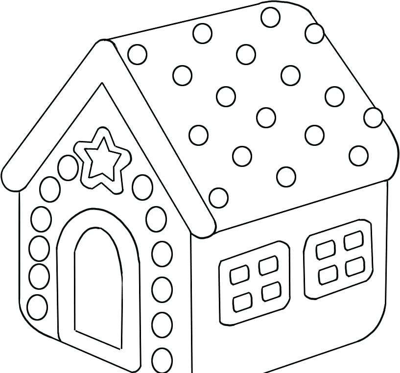 817x762 Candy Picture To Color Gingerbread House Candy Coloring Pages Mm