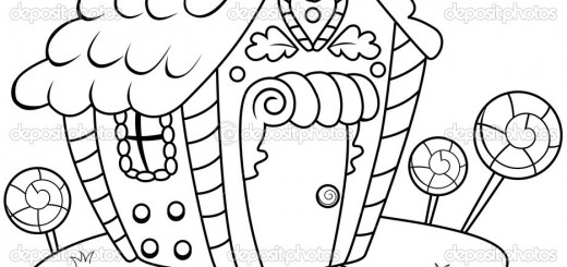 520x245 Gingerbread Coloring Pages Wallpaper